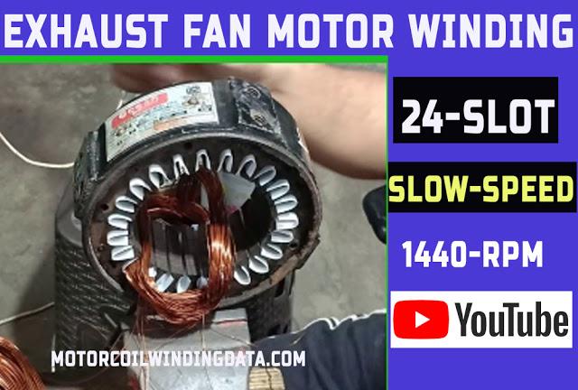 Exhaust fan Motor 32 slot