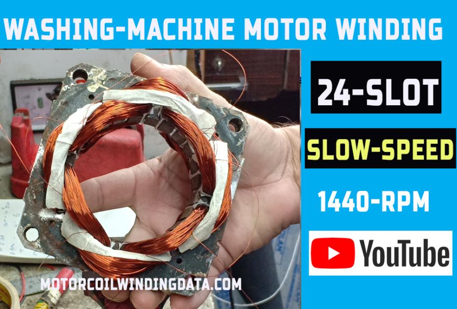 dryer motor winding data
