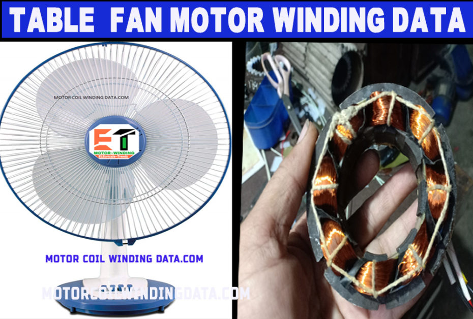 table fan coil winding data