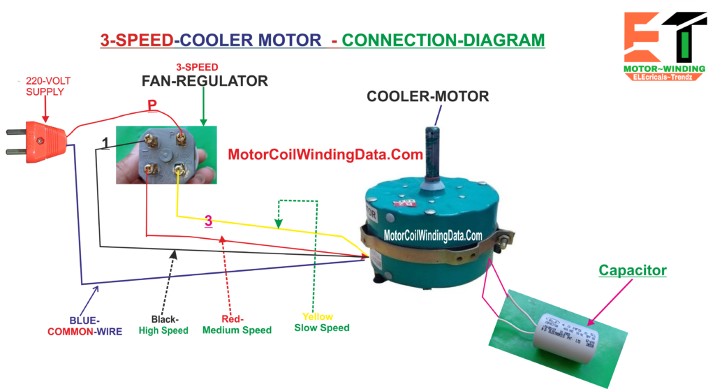 cooler motor capacitor connection