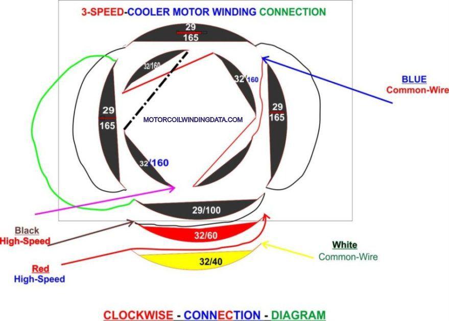 cooler motor connection diagram motorcoilwindingdata.com