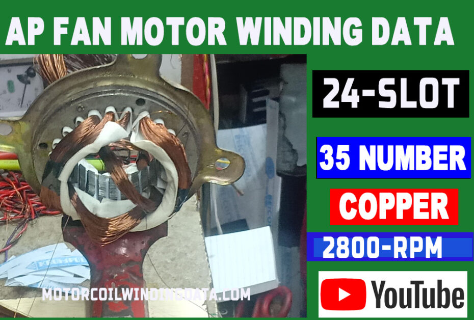 ap fan winding data With 35 Number Copper Wire