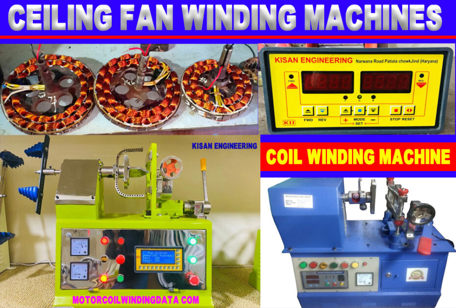 Ceiling Fan Winding Machine - Coil Winding Machine - Winding Machine Price | Rewinding Machine