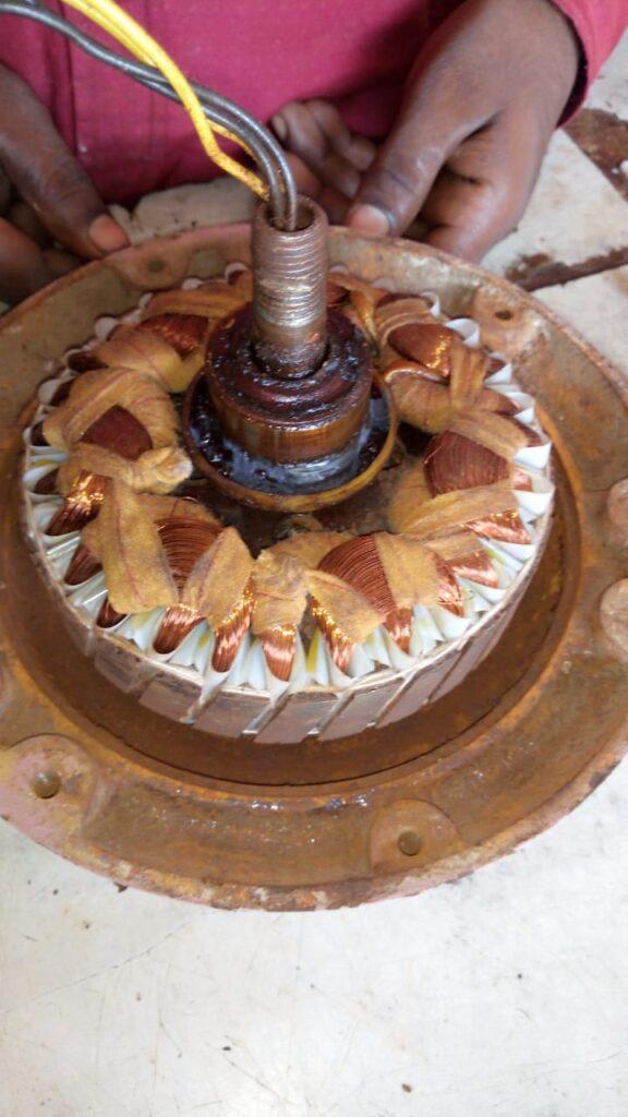 Hand winding ceiling fan | A-Class ceiling fan winding | Old model ceiling fan winding by motorcoilwindingdata.com