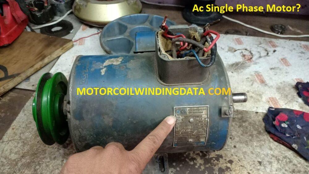AC Single Phase Winding.By motorcoilwindingdata.com