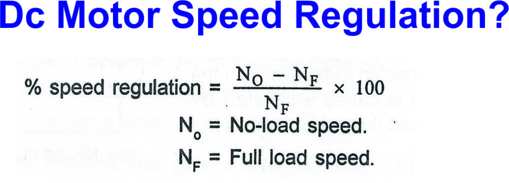 Dc Motor Speed Regulation?