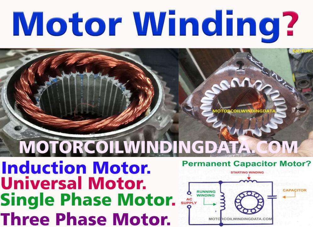 Motor Winding? Motor Winding Calculation.By motorcoilwindingdata.com