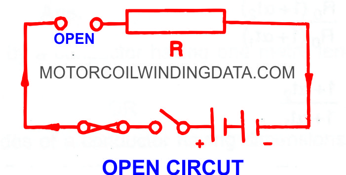 What Is Open Circuit?By Motorcoilwindingdata.com