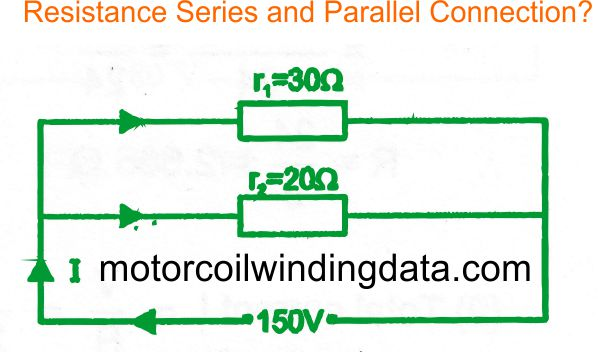 resistance series and parallel connection by motorcoilwindingdata.com