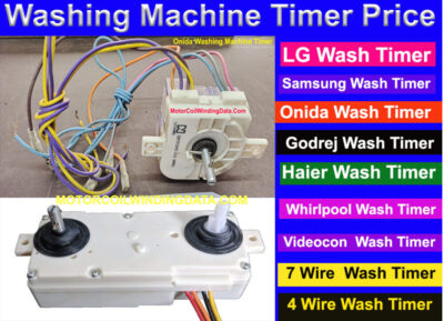 Washing Machine Timer Price Buy Online. MotorCoilWindingData.Com
