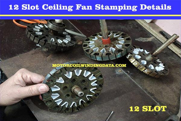 12+12 Ceiling Fan Winding Data.
