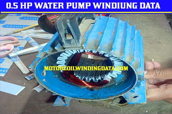 0.5 Hp Water Pump Motor Winding Data?